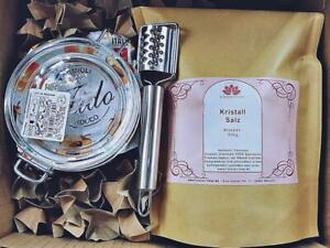 Kristall Salz Sole Geschenk Set +  ausführl. Anleitung zur SoleHerstellung 500gr