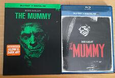 Boris Karloff The Mummy Blu-ray W/Limited Edition Glow in the Dark art Slipcover
