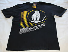 Bundaberg Rum Striped Logo Mens Black Printed Short Sleeve T Shirt Size XXL New