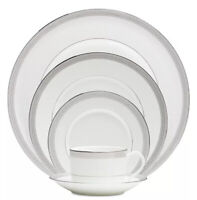 Waterford Olann  Bone China White 5 Piece Place Setting  Dinner Set NEW