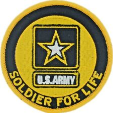 "U.S. Army Star Logo Soldier For Life 3"" Embroidered Patch (0233)"