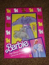 Vintage Barbie Fashion Pet Show Furry Purple Jump Suit 3661 NRFB 1986 Shoe Pants