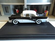 Oxford  1955  BUICK CENTURY  Black and White  1/87   HO  diecast car  GM NEW