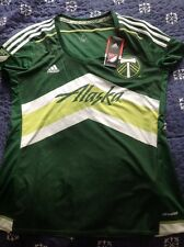 ADIDAS CLIMACOOL WOMENS PORTLAND TIMBERS MLS SOCCER JESEY NWT SIZE L