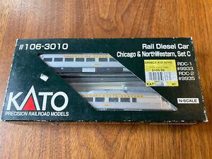 Kato 106-3010 Rail Diesel Car RDC Chicago & North Western, Set C CNW