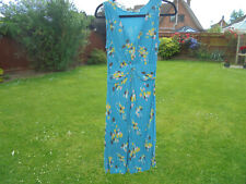 BODEN dress size 8 long BLUE TWISTED FRONT JERSEY DRESS