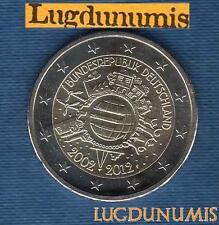 2 euro Commémo - Allemagne 2012 10 Ans de L'Euro F Stuttgart Germany