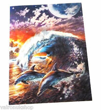 SEALIFE DOLPHIN AND WHALE 3D LENTICULAR GREETING CARD BLANK VERSE BIRTHDAY CARD