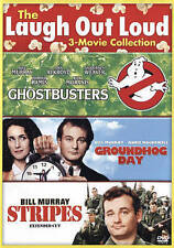 3 Movie Collection Ghostbusters, Stripes, Groundhog Day ~ DVD ~ BILL MURRAY ~New