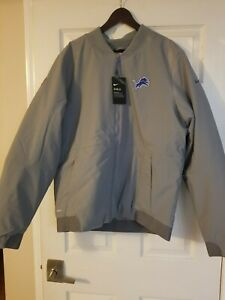 NEW Nike Shield Detroit Lions Bomber Jacket NFL Gray Sz XLarge AH7759-039 $200