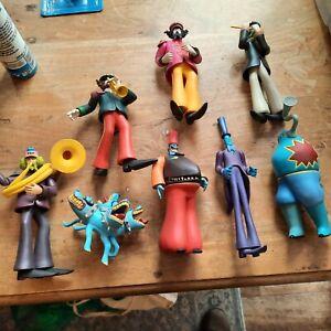 The Beatles * Subafilms, 8 x Yellow submarine Figures, in VGC ** Rare **