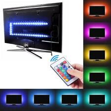 5v 5050 USB LED Strip Lights TV Back Light RGB Colour Changing With Remote