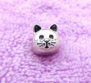 New Authentic Pandora Curious Cat Sterling Silver 925 ALE Charm 791706