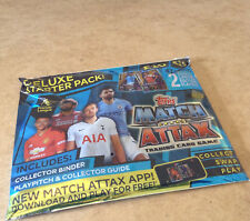 TOPPS MATCH ATTAX TRADING CARD GAME PREMIER LEAGUE 2018/19 DELUXE STARTER PACK