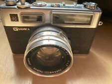 Vintage Yashica Electro 35 GSN Camera with carrying case, wide angle lens, telep