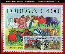 FAROER Kaart Oude gebruiken met M270-271 gestempeld