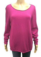Talbots 1X Fuchsia 100% Merino Wool Pullover Sweater Top Womens Long Sleeve Plus