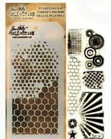 Bitty Grunge Clear Acrylic Stamp & Stencil Set by Tim Holtz Stampers Anonymous
