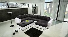 ECKSOFA Couch mit Schlaffunktion Eckcouch Polstergarnitur TOP DESIGN - NEPTUN