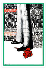 Decor Graphic Design movie Poster 4 Italian film MONSTER in the Front page.Art