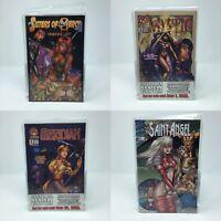 Lot of 4 random Comic Books: Mystic, Sisters of Mercy, Meridian, Saint Angel