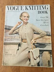 Vintage 1954 Fall and Winter Vogue Knitting Book