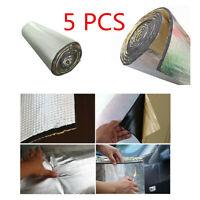 New 5PCS 7mm 30*50cm Self-Adhesive Car Firewall Ceiling Door Hood Sound Deadener