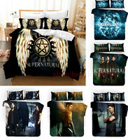 3D Supernatural SPN Duvet Cover 3PCS Bedding Set Comforter Cover Pillowcase Gift