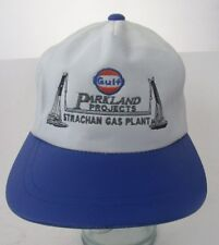 RARE 1998 Gulf Oil Parkland Project Strachan Gas Plant  Zipper Hat Leather A13