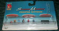 LIFE-LIKE - PEOPLE SITTING with BENCH #1607 - HO TRAIN FIGURES