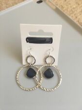 Silver and blue stone earrings brand new debenhams by butterfly