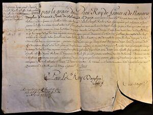 KING LOUIS XV SIGNED LETTER ON PARCHMENT - 1741 König von Frankreich Rey Luis XV