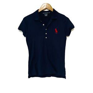 Tommy Hilfiger Sports Women's Dark Blue Golf Polo Short Sleeve Top Size Medium
