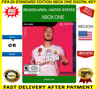 FIFA 20 Xbox One Game 🔑 Digital Code Key Region US Free P&P ⚽ 🎮