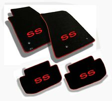 NEW! 1967-1969 Camaro Floor Mats Black Set Carpet Embroidered SS Red Binding All