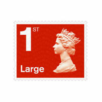 10x Royal Mail First Class Large Letter 1st Class Self Adhesive Stamps