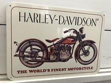 """VINTAGE HARLEY DAVIDSON 1933 VL MOTORCYCLE  10"""" X 14"""" PORCELAIN METAL SIGN"""