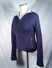 Abercrombie & Fitch Sweater Jacket Full Zip Wool Blend Blue Women's Size Medium
