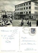 Cartolina di Catanzaro, albergo e banca - 1962