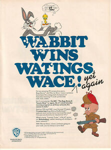 The Bugs Bunny and Tweety Show 1989 Ad- Wabbit Wins Watings Wace Yet Again WB