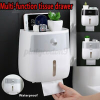 Toilet Wall-Mount Paper Tissue Towel Box Rolled Waterproof Bathroom Holder Rack