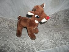 """Rudolph The Red Nose Reindeer Plush Dan Dee Collection 11""""- Cute!- Bin H"""