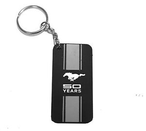 Mustang 50 Year Aniversary Key Chain Fob Ring 1971 1972 1973 1983 1984 1985 1986