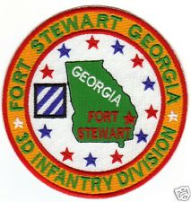 Us Army Post Patch, Fort Stewart Georgia, 3D Infantry Division  00002000  Y