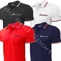 Lambretta Polo Shirt Tee T-Shirt Mod Mens Plain Or Tipped New Carnaby Street