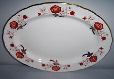 "PATTERN # A1100 BALI ELY/CHELSEA  ROYAL CROWN DERBY LARGE 16 "" OVAL PLATTER"