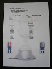 1901-02 FA Cup 3rd Round replay Sheffield United v Newcastle United  matchsheet