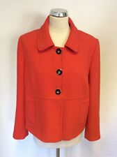 MARKS & SPENCER BRIGHT CHERRY RED JACKET SIZE 16