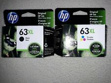 NEW HP 63XL tricolor and 63xl Black Combo Original HP Ink Cartridge EXP 12/2021