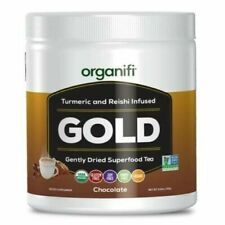 Organifi GOLD Gently Dried Superfood Tea Turmeric Chocolate Flavor 30 Day Supply
